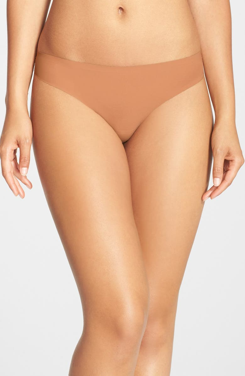 NUBIAN SKIN 'The Thong' Seamless Thong, Main, color, 201