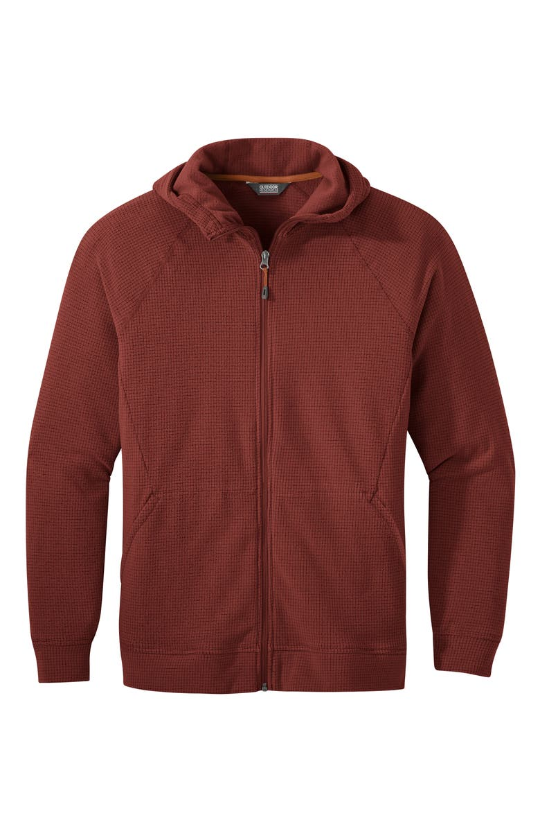 OUTDOOR RESEARCH Men's Trail Mix Hooded Fleece Jacket, Main, color, MADDER