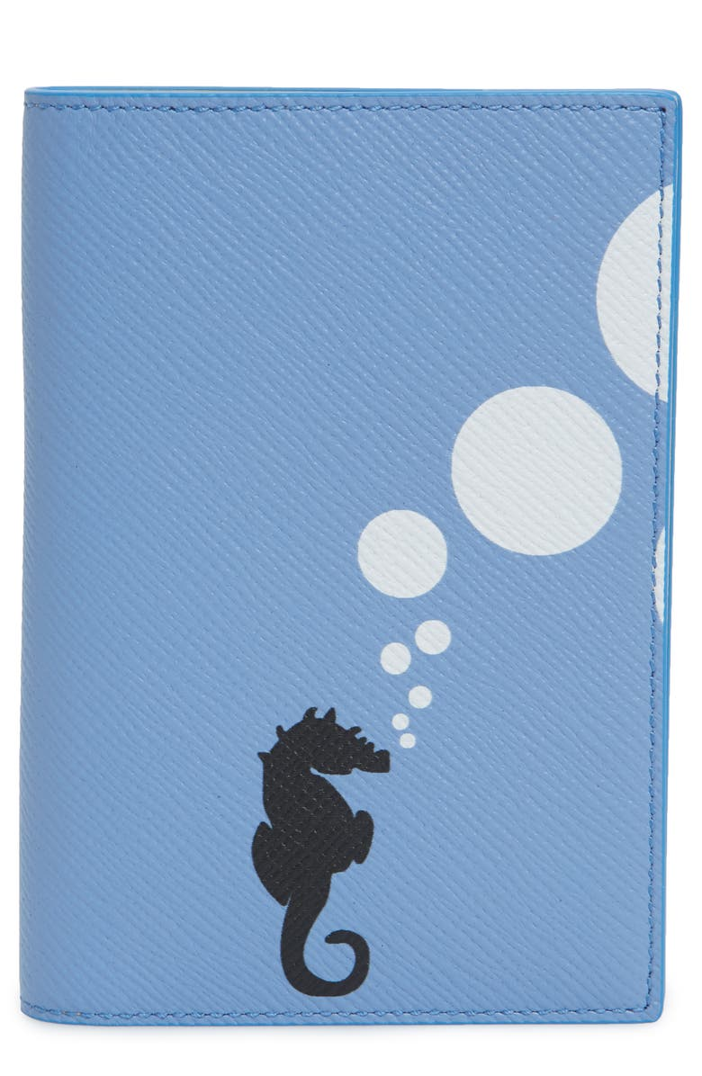 SMYTHSON Panama Seahorse Leather Passport Holder, Main, color, 400