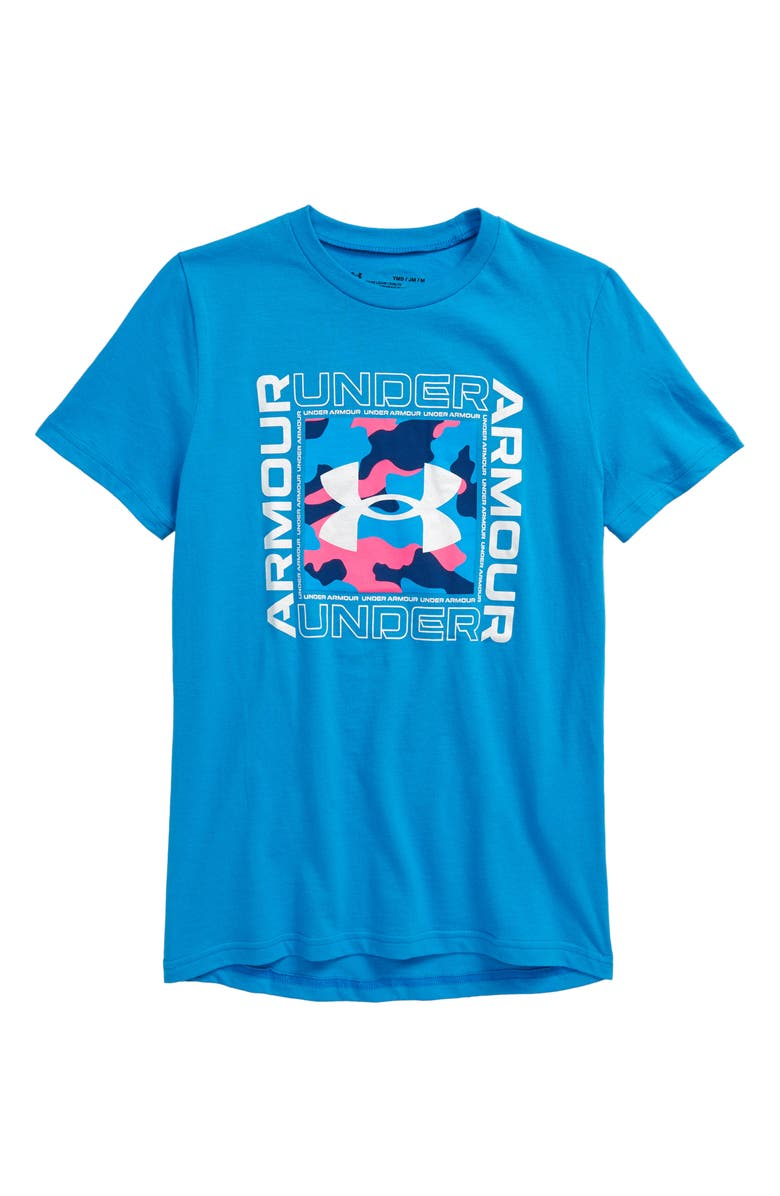 UNDER ARMOUR Kids' Rival Inspired Graphic Tee, Main, color, 400