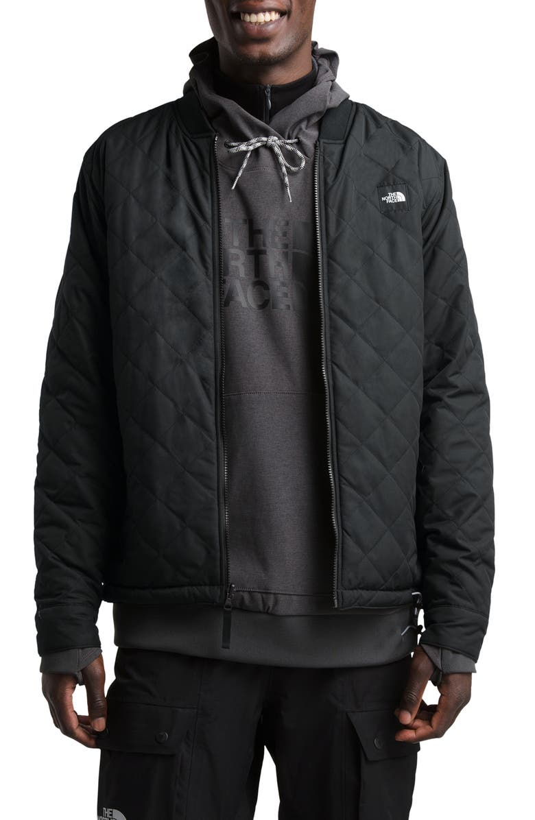 THE NORTH FACE Jester Reversible Bomber Jacket, Main, color, TNF BLACK/ TIMBER TAN