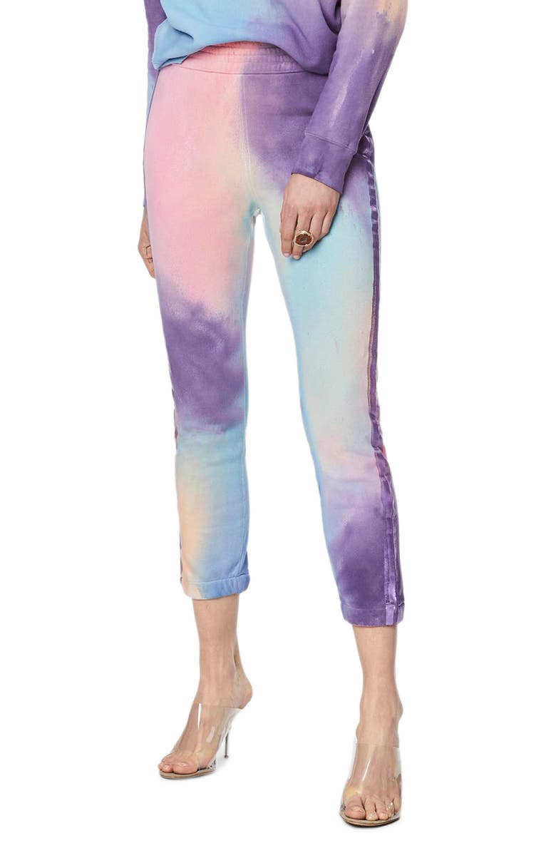 MOTHER The Springy Lounger Tie Dye Ankle Pants, Main, color, 400