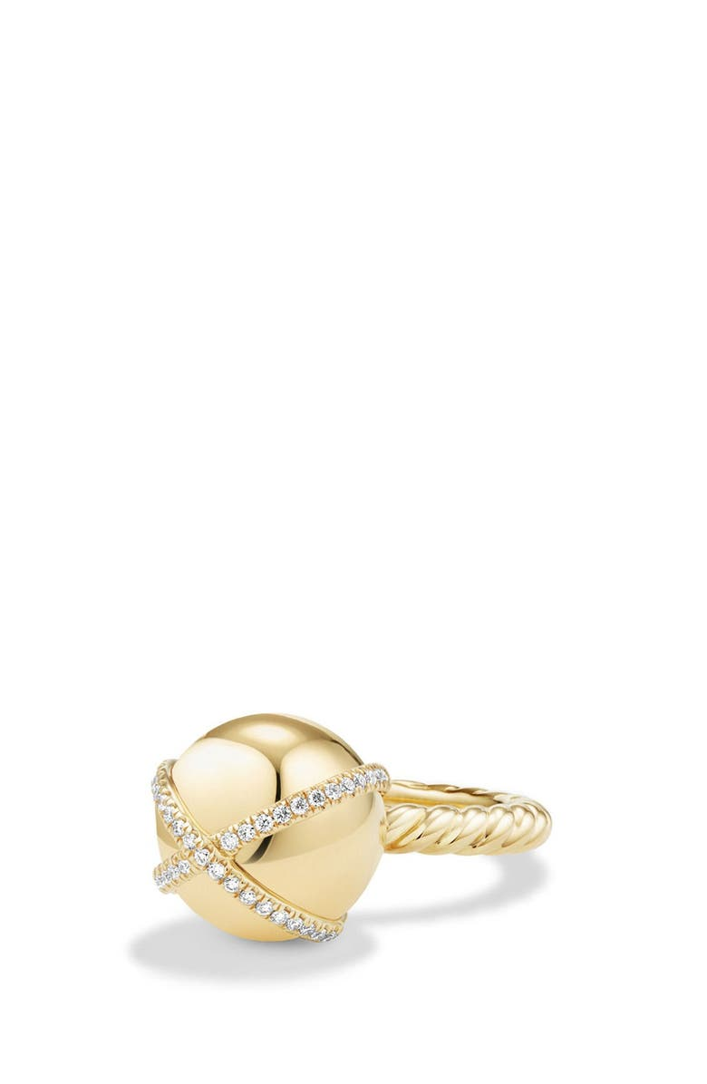DAVID YURMAN Solari Wrap Ring with Pavé Diamonds in 18k Gold, Main, color, YELLOW GOLD