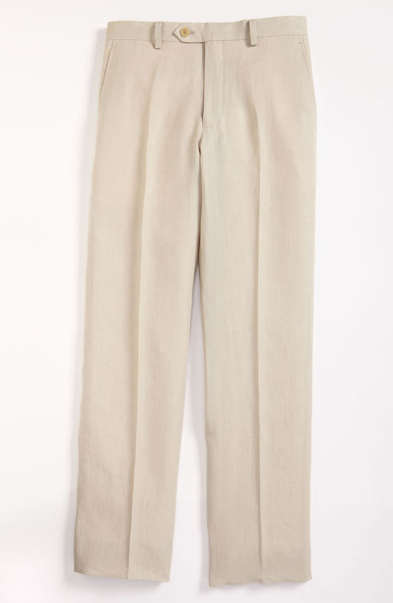 HICKEY FREEMAN 'Bhelding' Linen Trousers, Main, color, 250