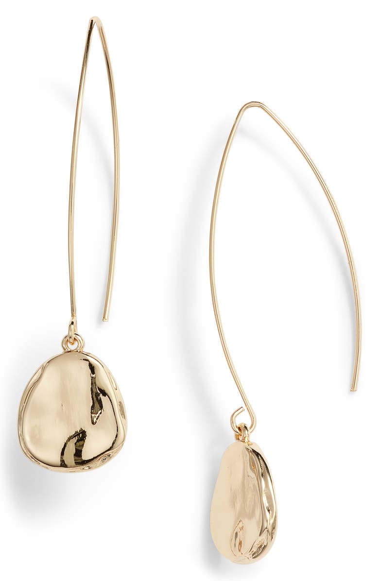 NORDSTROM Organic Drop Earrings, Main, color, NO_COLOR