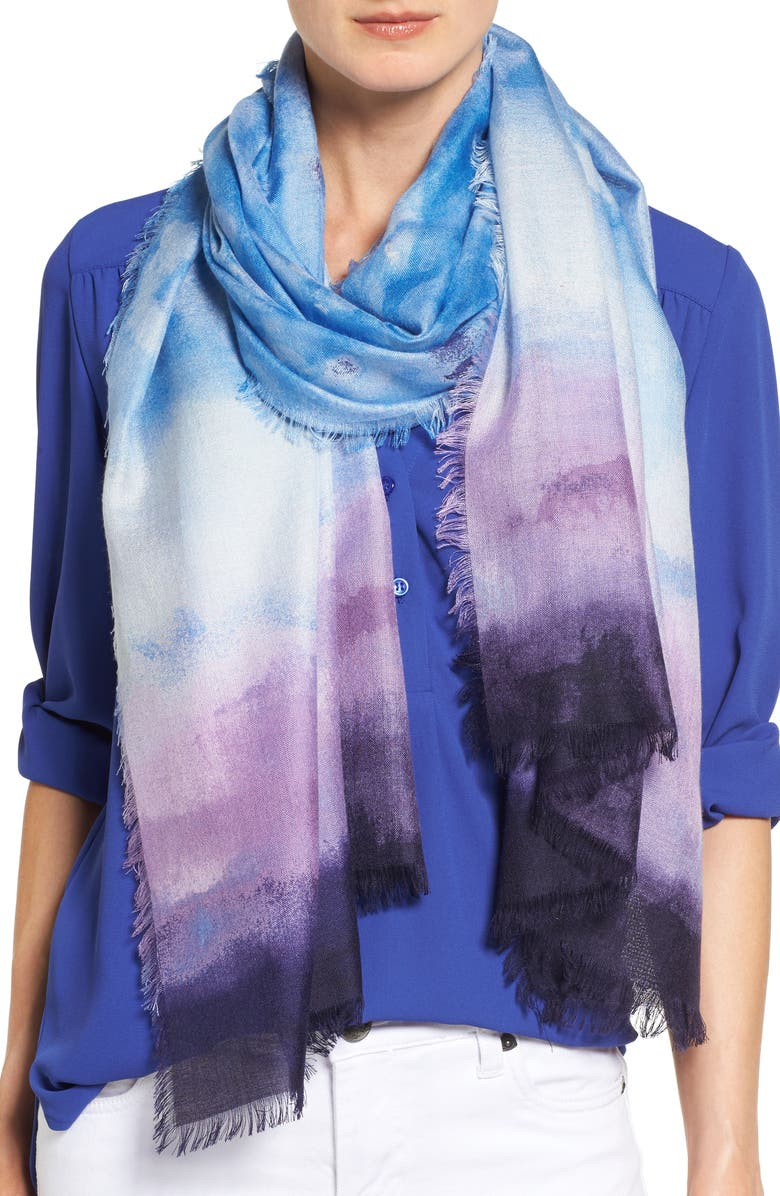 NORDSTROM Saharan Colorwash Cashmere & Silk Scarf, Main, color, 420