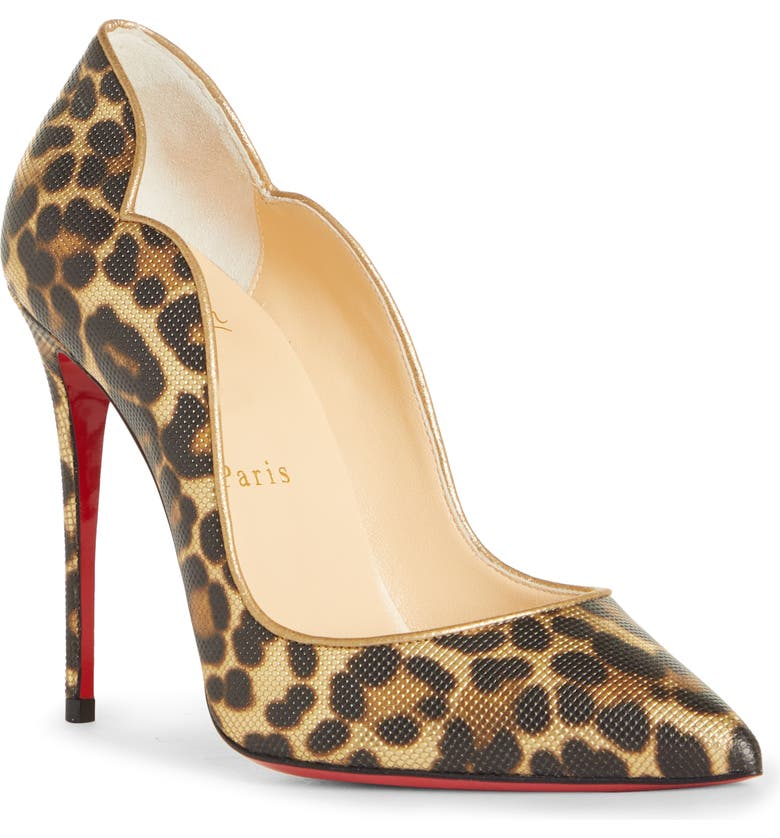 CHRISTIAN LOUBOUTIN Hot Chick Leopard Pump, Main, color, LEOPARD