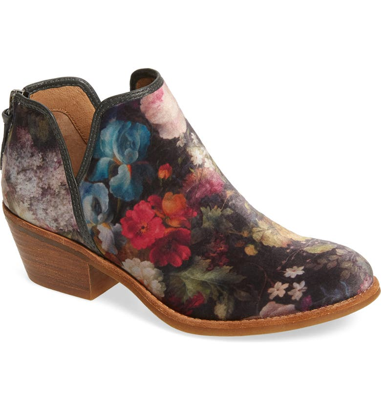 SÖFFT Abena Bootie, Main, color, PINK FLOWER LEATHER