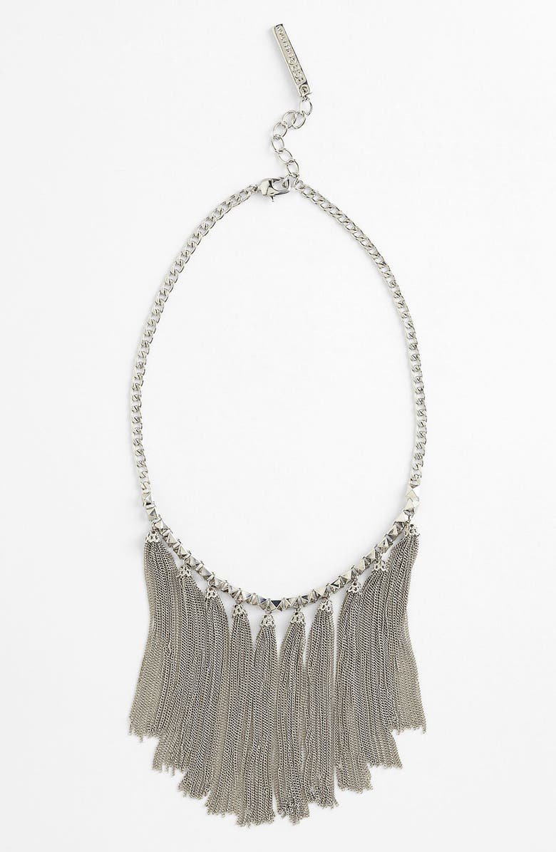 BCBGENERATION 'The Standard' Tassel Necklace, Main, color, Silver