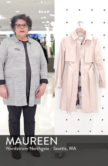 Scallop Detail Trench Coat, sales video thumbnail