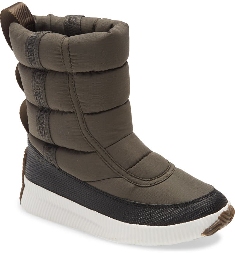 SOREL Out 'N About Puffy Waterproof Snow Boot, Main, color, ALPINE TUNDRA