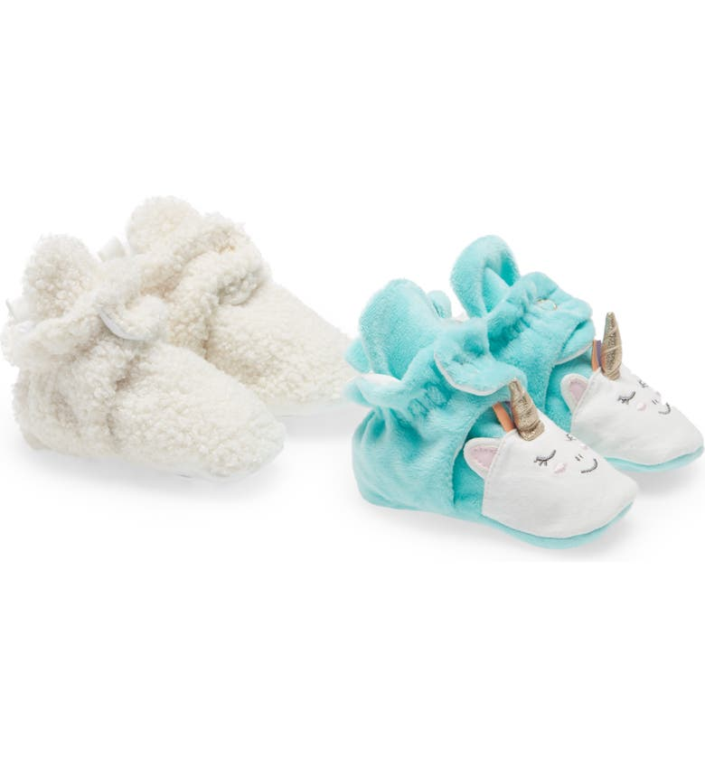 ROBEEZ<SUP>®</SUP> Magical Set of 2 Booties, Main, color, MAGICAL/ IVORY SHERPA