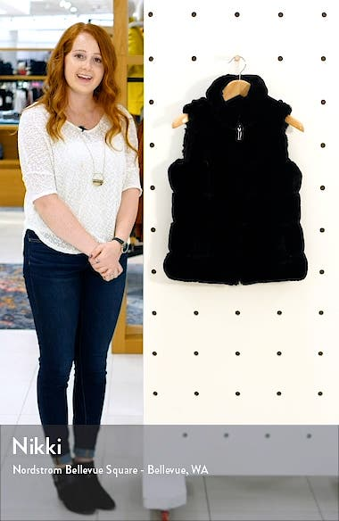 Faux Fur Reversible Vest, sales video thumbnail