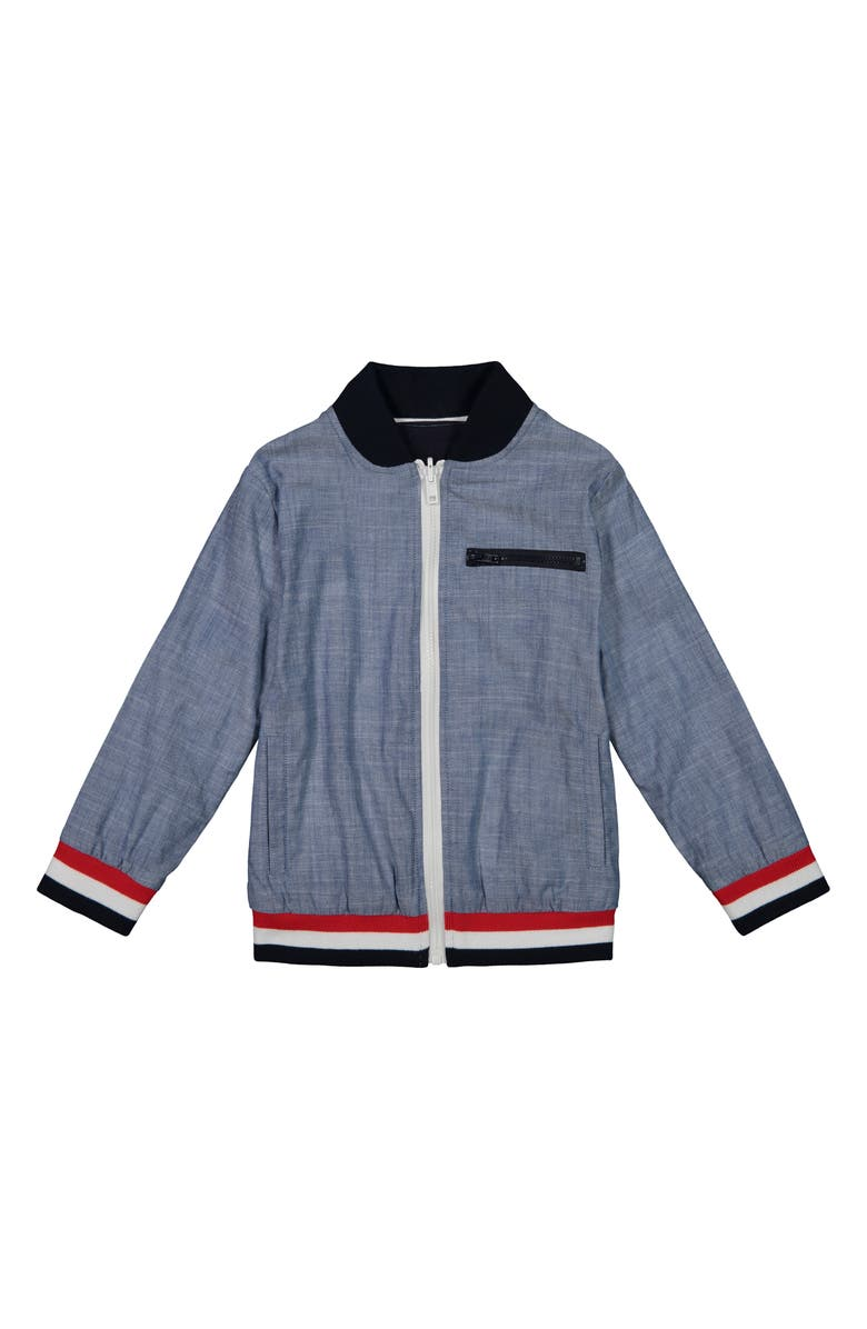 ANDY & EVAN Reversible Cotton Bomber Jacket, Main, color, 400