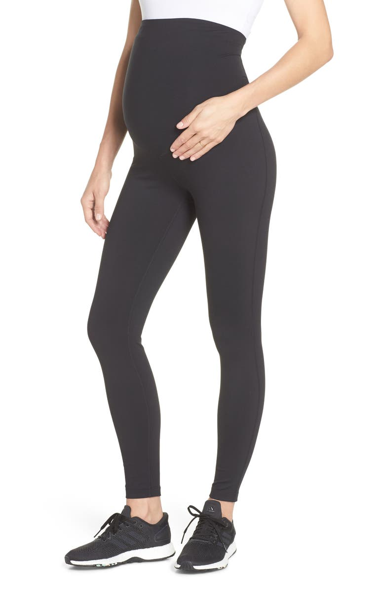 ZELLA Mamasana Live In Maternity Ankle Leggings, Main, color, BLACK