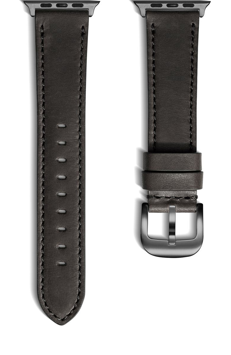SHINOLA 20mm Leather Apple Watch<sup>®</sup> Strap, Main, color, 002