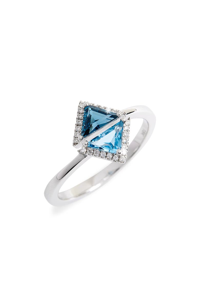 BONY LEVY Iris Double Triangle Diamond & Semiprecious Stone Ring, Main, color, 710