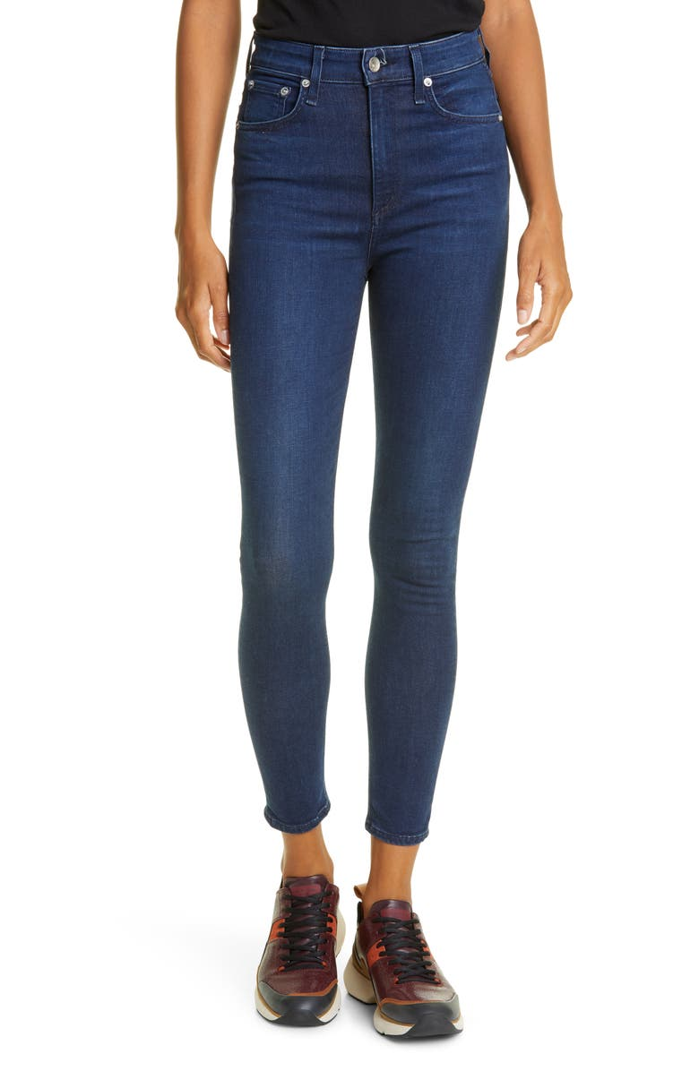 RAG & BONE Nina High Waist Ankle Skinny Jeans, Main, color, VIOLA