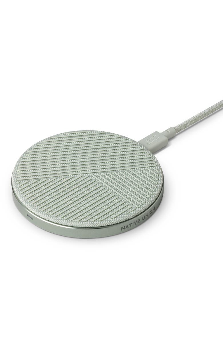 NATIVE UNION Drop Wireless Charging Pad, Main, color, SAGE