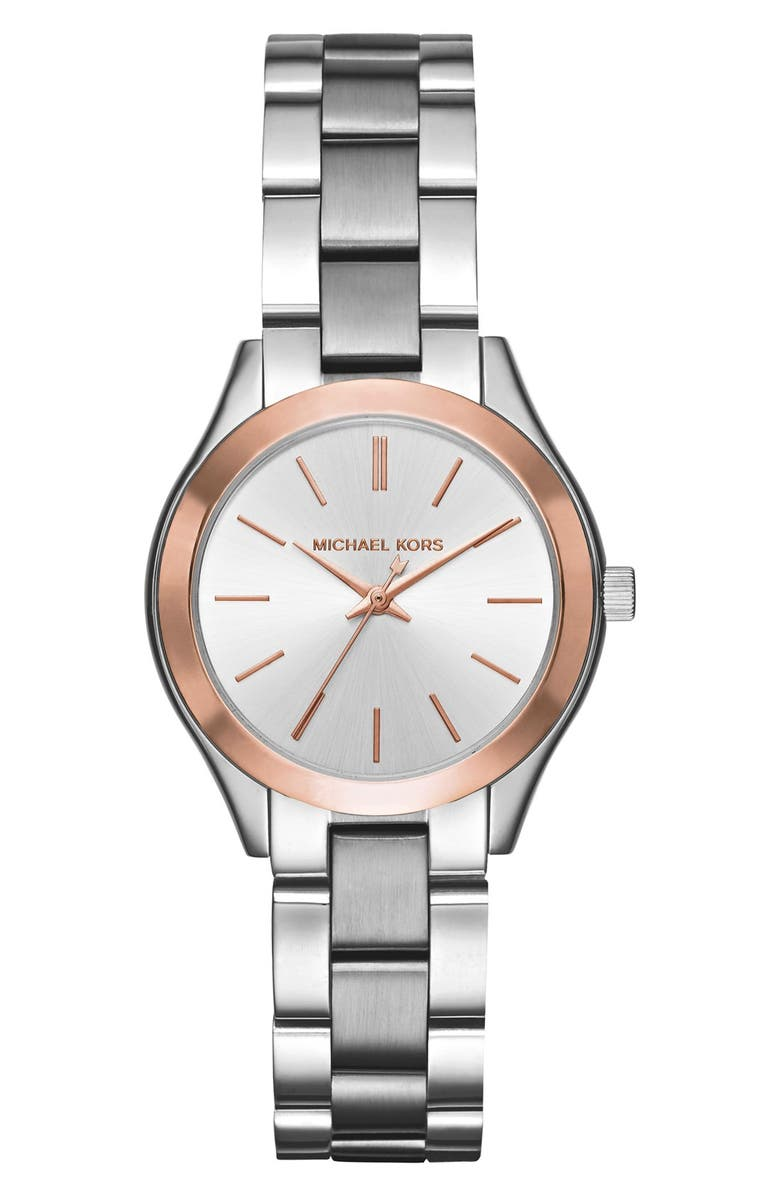 MICHAEL KORS 'Slim Runway' Bracelet Watch, 33mm, Main, color, 040