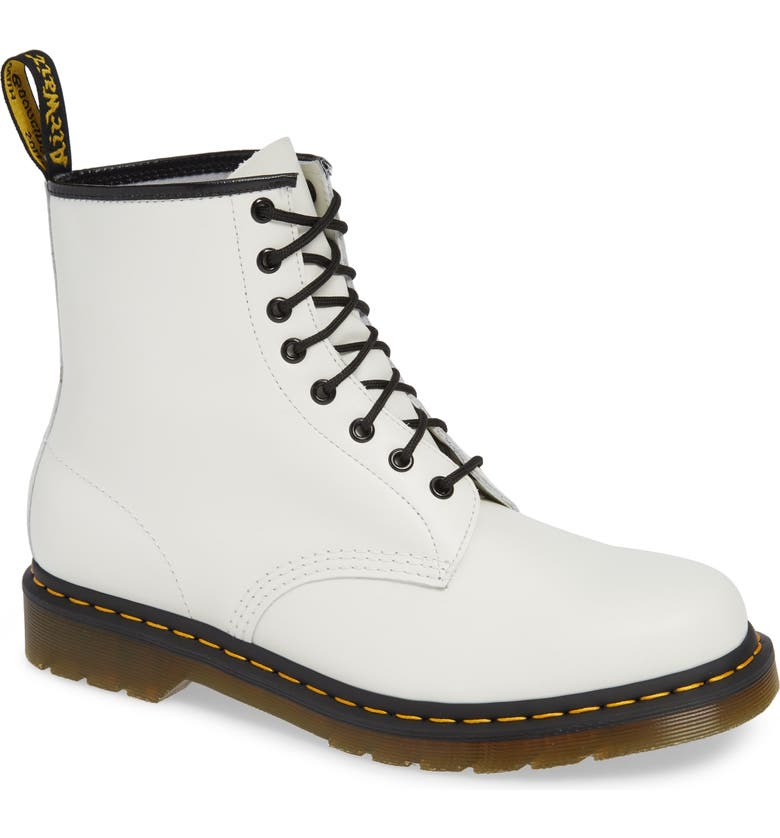 DR. MARTENS '1460' Boot, Main, color, White