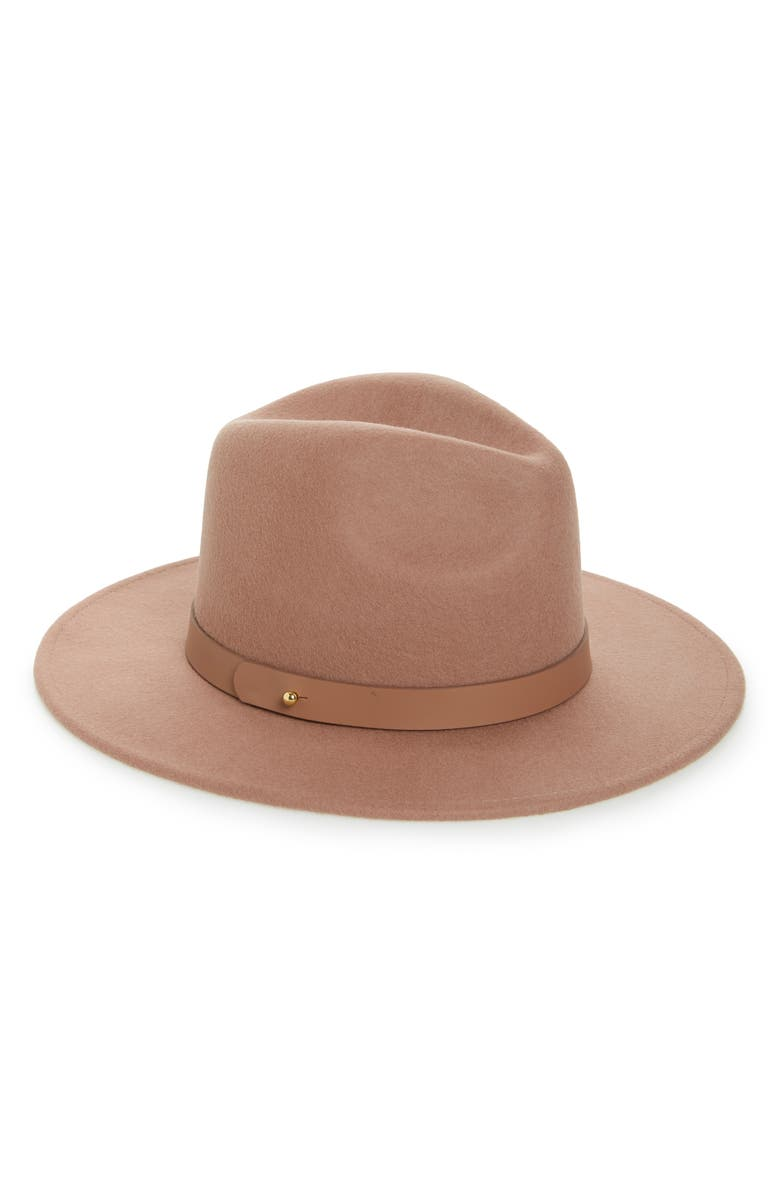 LACK OF COLOR Midnight Mack High Crown Wool Fedora, Main, color, MAUVE