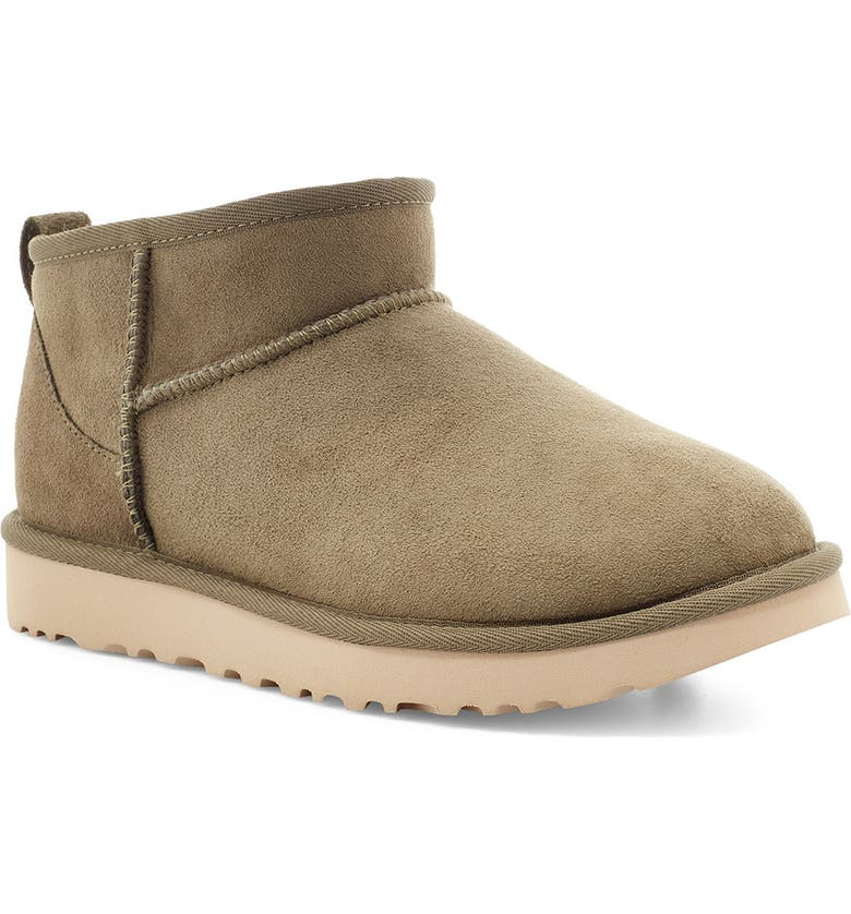 UGG<SUP>®</SUP> Ultra Mini Classic Boot, Main, color, BURNT OLIVE SUEDE