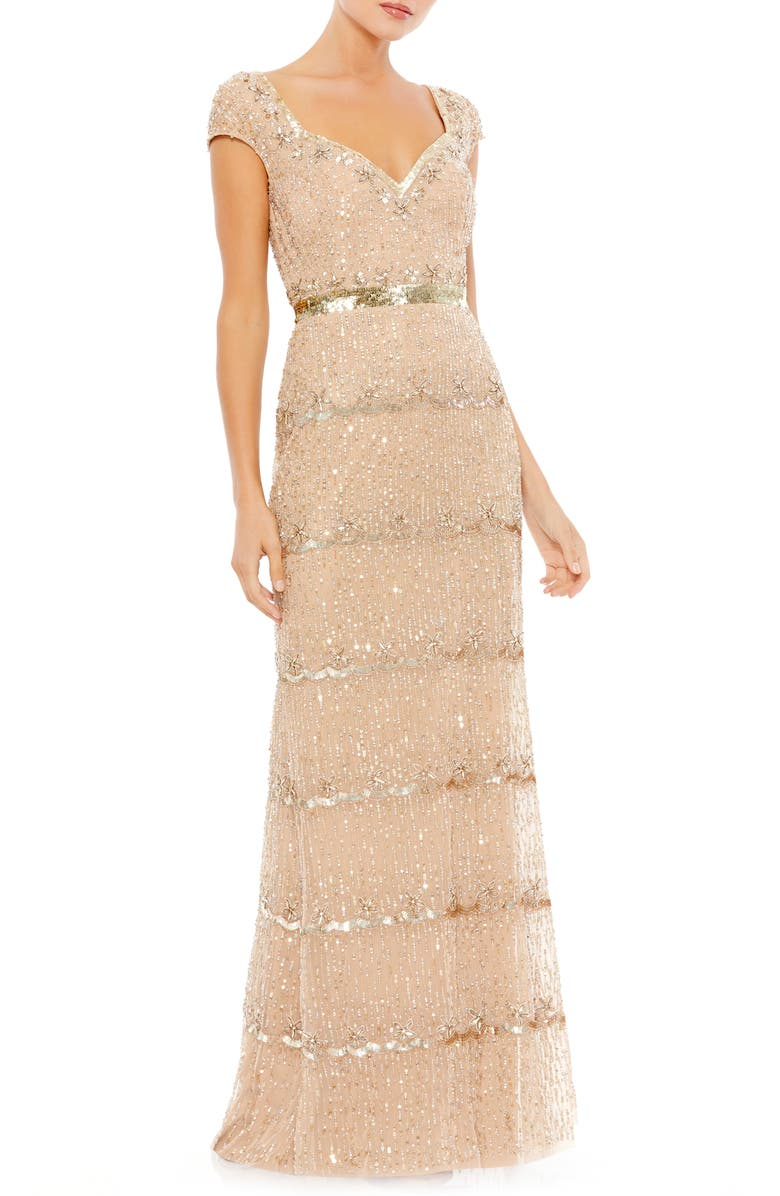 Flapper Outfit: How to Dress Like a 20s Flapper Girl Beaded Sheath Gown  AT vintagedancer.com