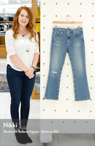 Jeans Jodi Ripped Crop Flare Jeans, sales video thumbnail