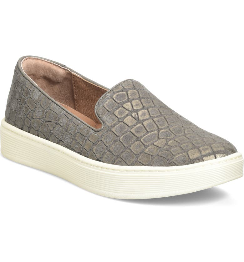 SÖFFT 'Somers' Slip-On Sneaker, Main, color, GREY LEATHER