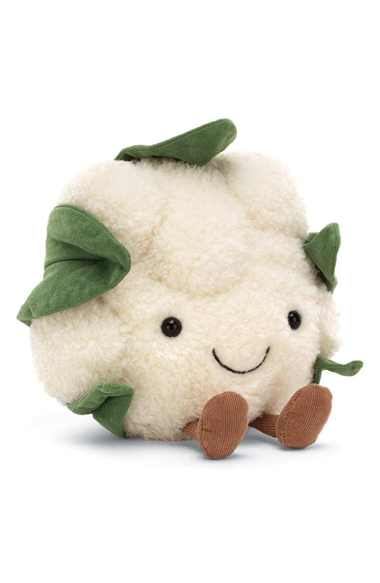 JELLYCAT Amusable Cauliflower Stuffed Toy, Main, color, WHITE