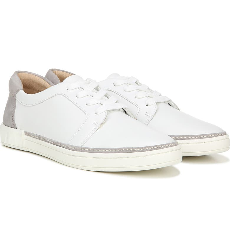 NATURALIZER Jane Sneaker, Main, color, WHITE/ GREY LEATHER