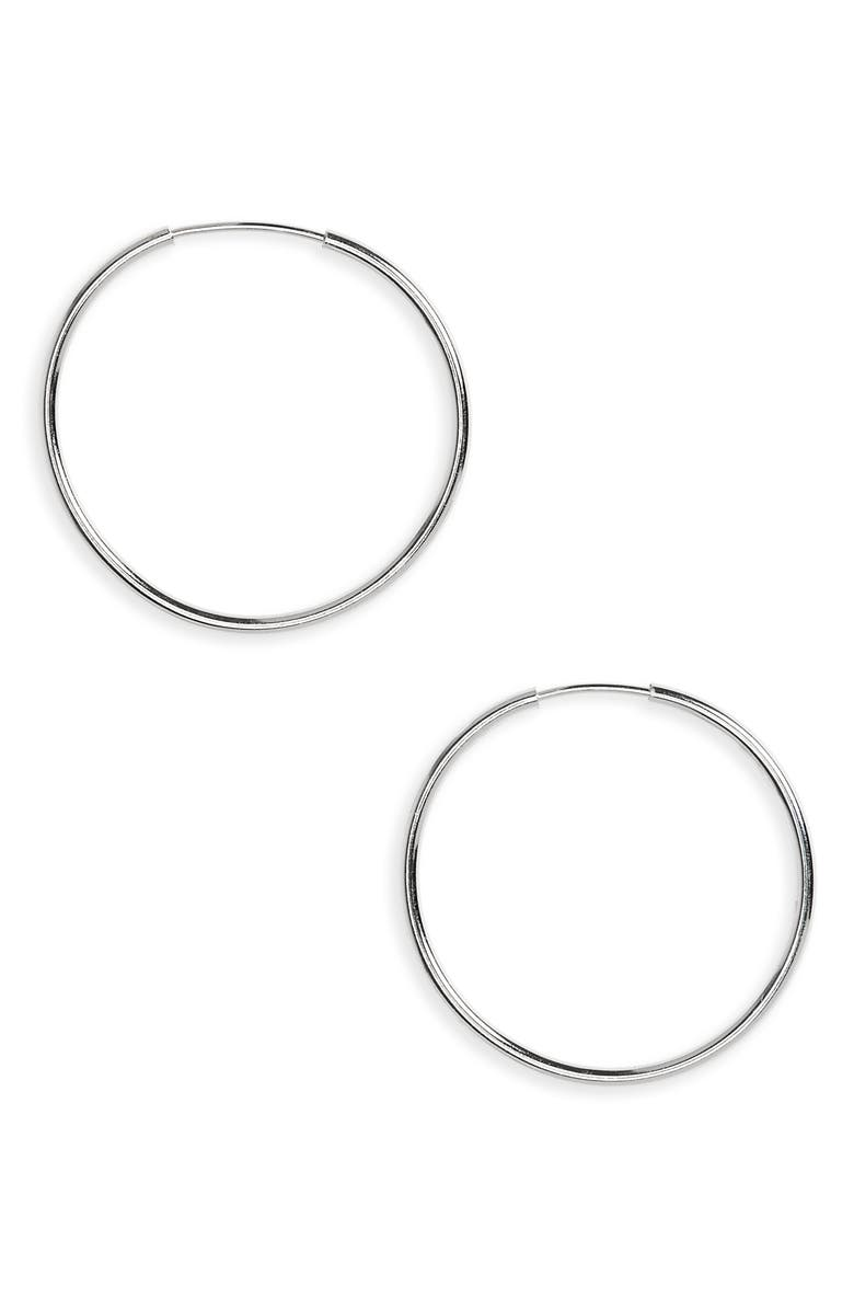 ARGENTO VIVO STERLING SILVER Argento Vivo Endless Hoop Earrings, Main, color, SILVER