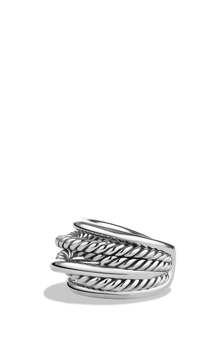 DAVID YURMAN Crossover Narrow Ring, Main, color, SILVER
