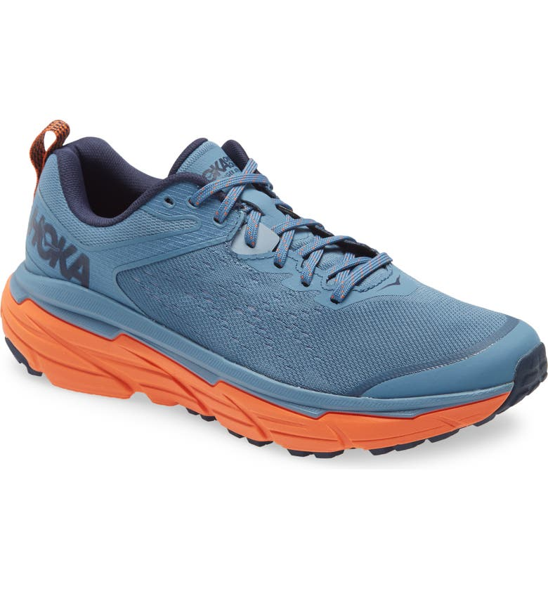 HOKA ONE ONE Challenger ATR 6 Trail Running Shoe, Main, color, PROVINCIAL BLUE/ CARROT