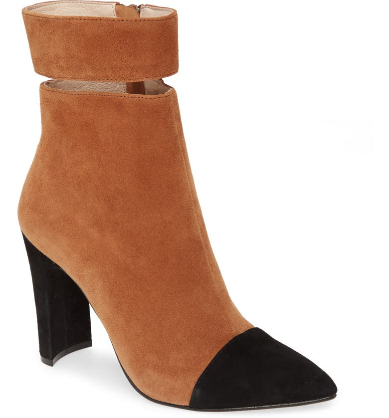42 GOLD Kiki Pointed Toe Bootie, Main, color, CHESTNUT SUEDE