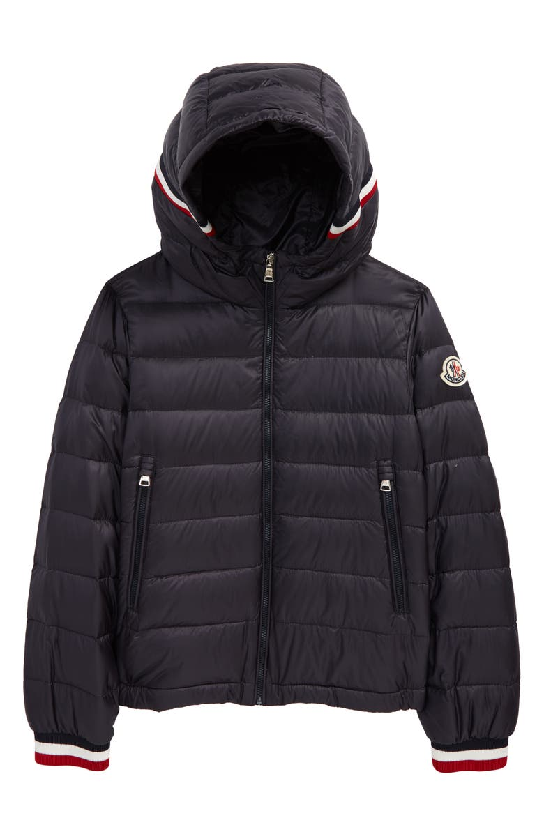 MONCLER Kids' Giroux Water Resistant Down Puffer Jacket, Main, color, NAVY