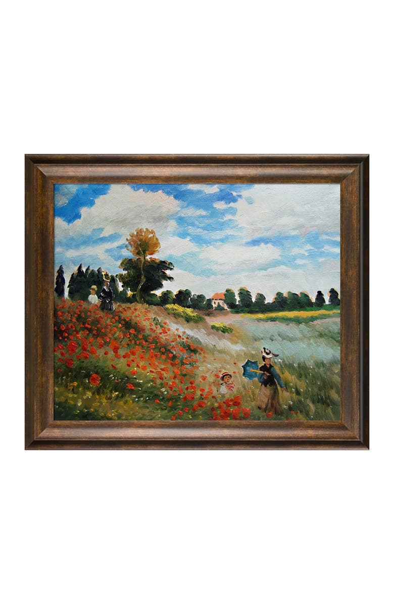 OVERSTOCK ART Poppy Field in Argenteuil - Framed Oil Reproduction of an Original Painting by Claude Monet, Main, color, MULTI