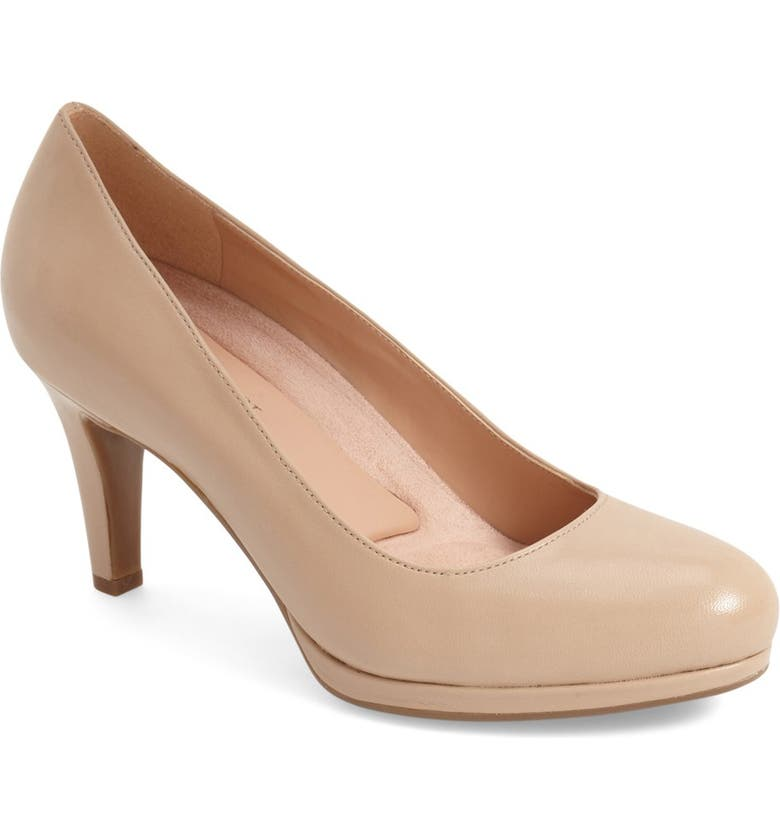NATURALIZER 'Michelle' Almond Toe Pump, Main, color, TENDER TAUPE