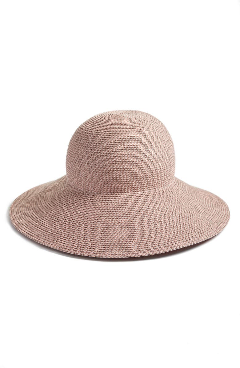 ERIC JAVITS 'Hampton' Straw Sun Hat, Main, color, BLUSH