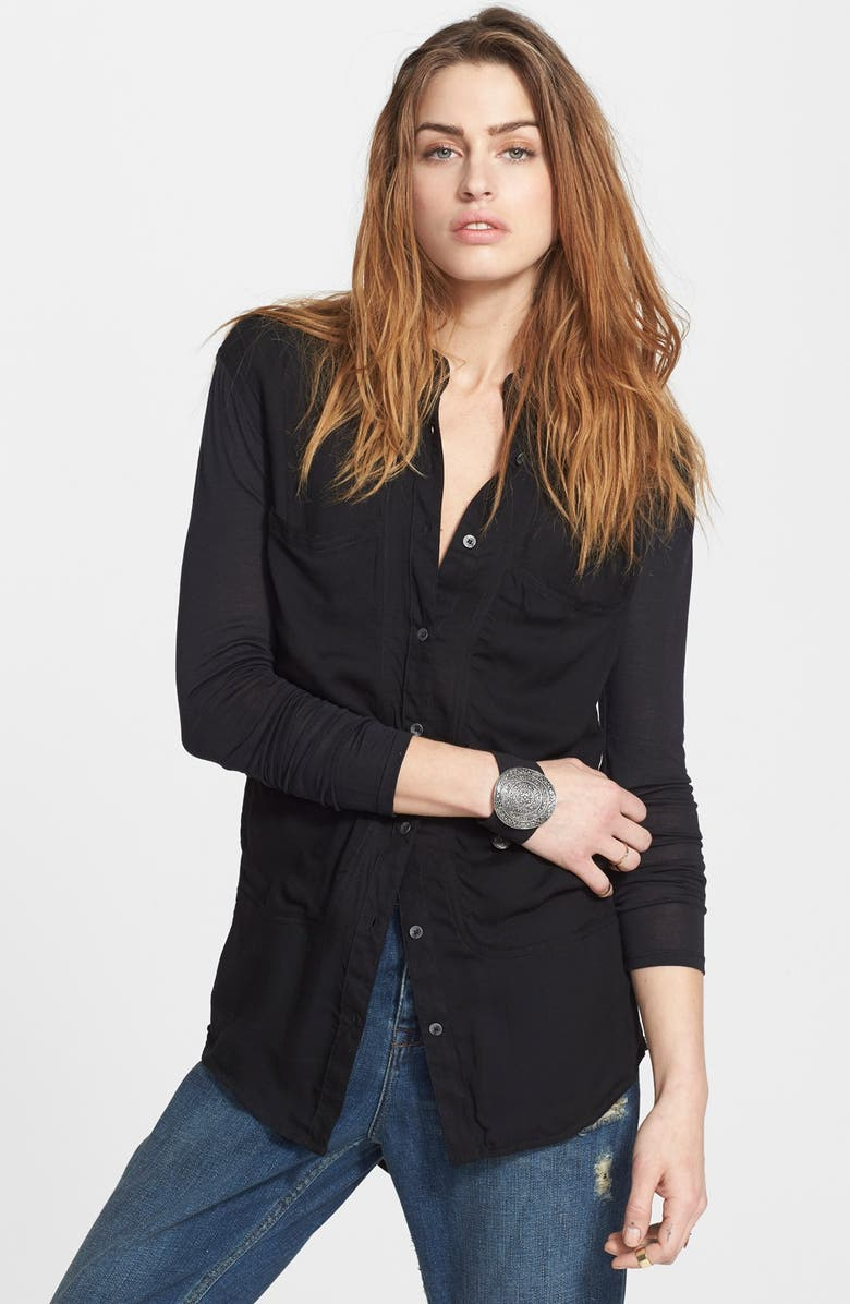 FREE PEOPLE 'Breakfast in Bed' Button Front Top, Main, color, 001