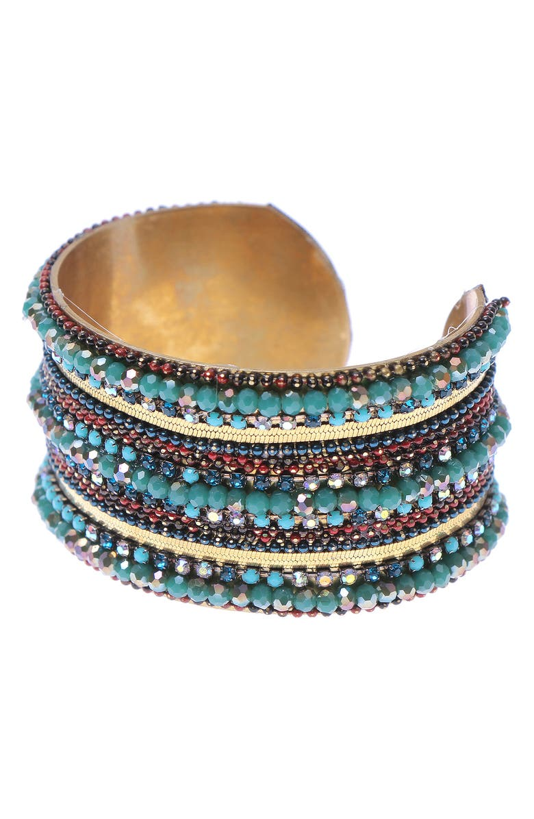 NAKAMOL CHICAGO Beaded Cuff Bracelet, Main, color, 300