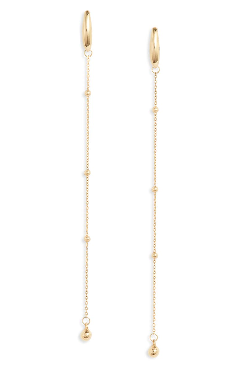 BONY LEVY 14K Gold Linear Earrings, Main, color, YELLOW GOLD