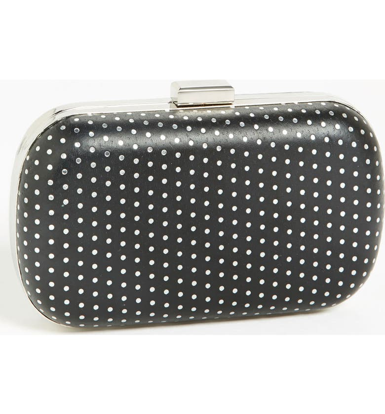 EXPRESSIONS NYC Smooth Box Clutch, Main, color, 001