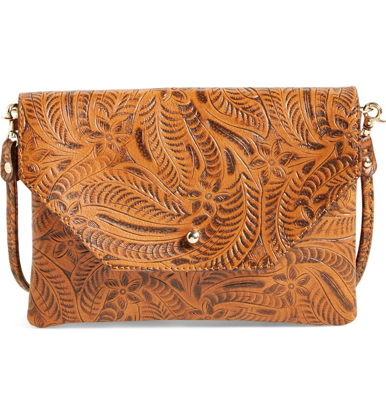 STREET LEVEL Tooled Crossbody, Main, color, 200