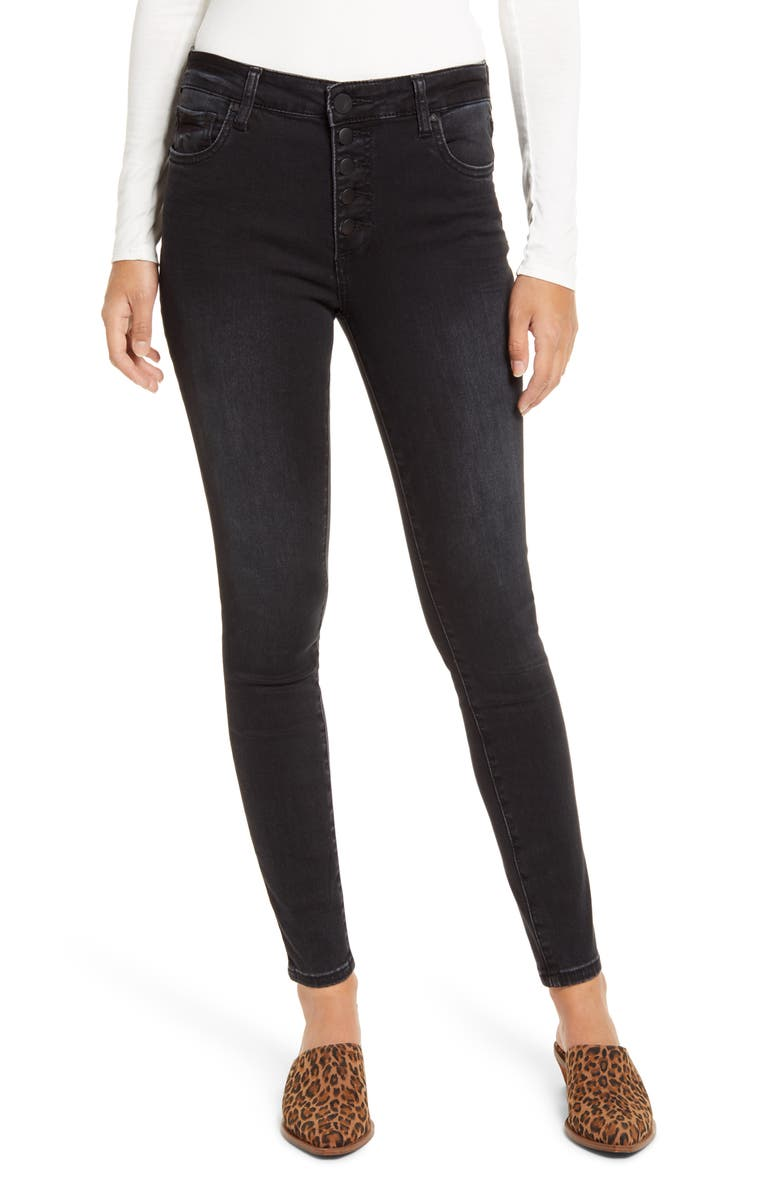 KUT FROM THE KLOTH Donna High Waist Button Fly Jeans, Main, color, CONTINUALLY