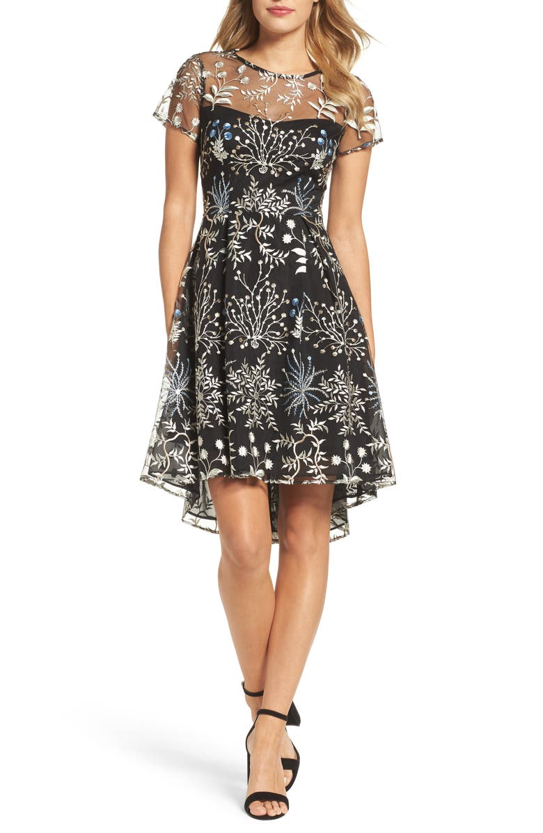 ADRIANNA PAPELL Ethereal Fit & Flare Dress, Main, color, 480