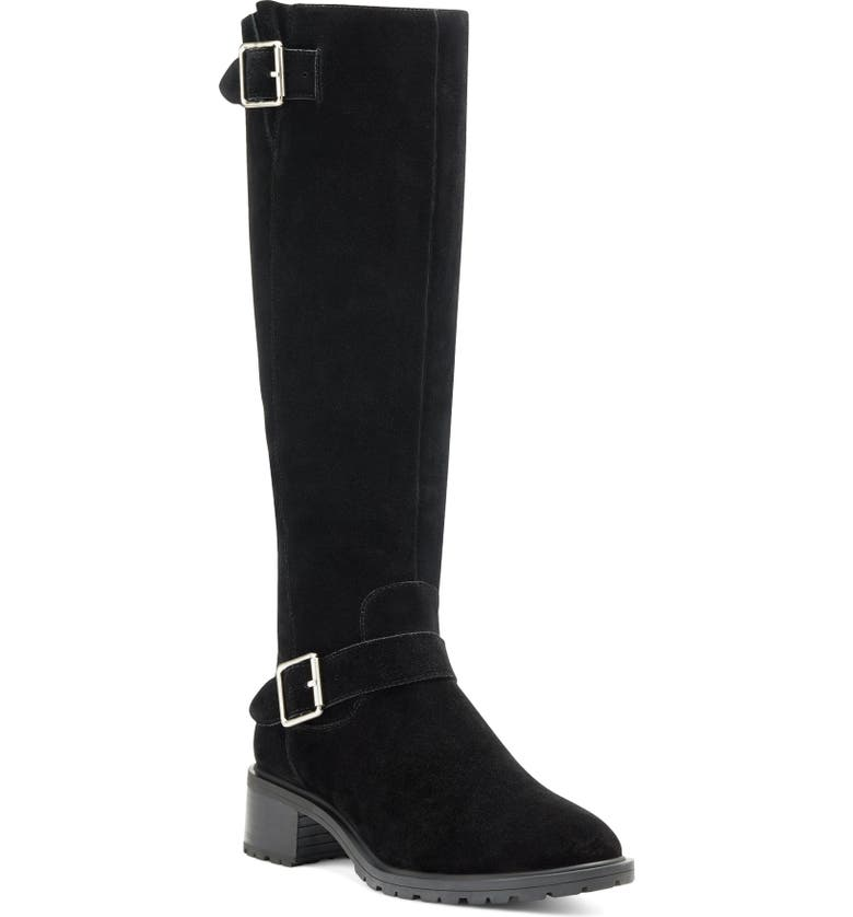 SOLE SOCIETY Jarney Knee High Boot, Main, color, BLACK SUEDE