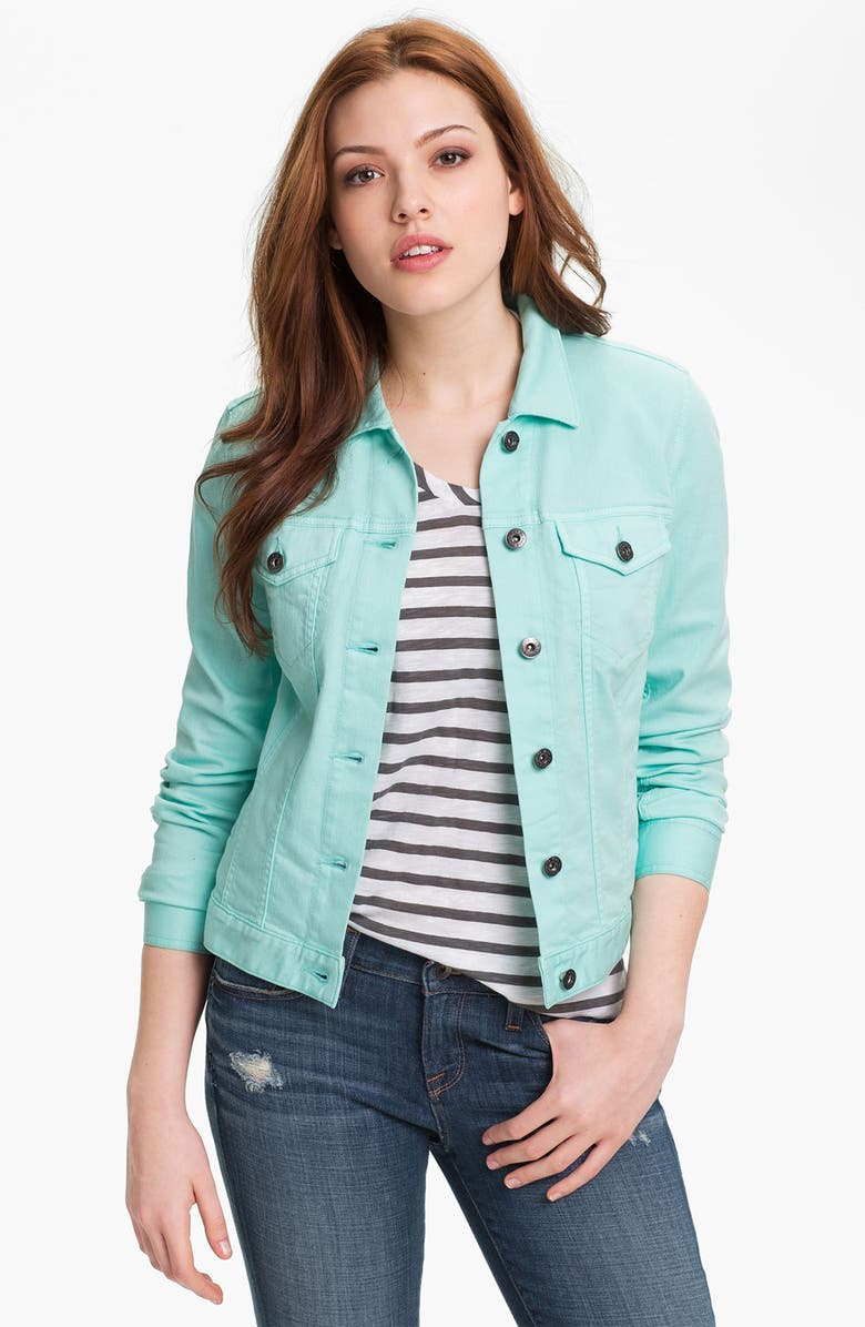 TWO BY VINCE CAMUTO Colored Denim Jacket, Main, color, 400