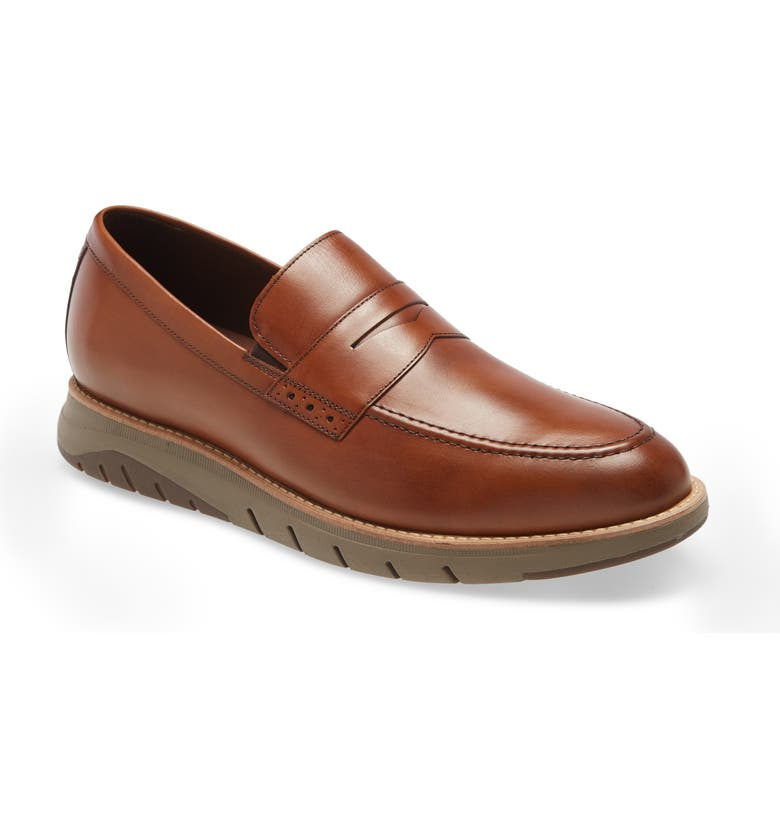 JOHNSTON & MURPHY Vaughn Penny Loafer, Main, color, MAHOGANY